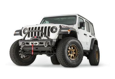 Front Recovery Bumper, Warn Elite Stubby w/ Hoop, JL (101330 / JM-04371 / Warn)
