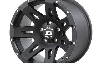XHD Aluminum Wheel, Black Satin, 17X8.5 (ET+10), JK / JL (15301.60 / JM-04381 / Rugged Ridge)