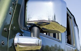 Door Mirror Arm Cover Kit, Chrome, 4 Piece; Wrangler JK (13311.03 / JM-03926 / Rugged Ridge)
