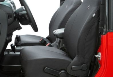 Front Seat Covers, Wrangler JLU, Black Diamond (2929035 / JM-05105 / Bestop)