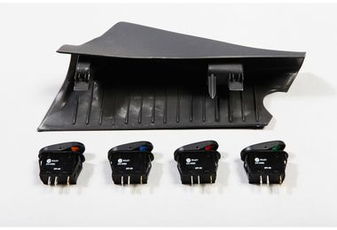 A-Pillar 4 Switch Pod Kit, JK 07-10 RHD (17235.87 / JM-02956 / Rugged Ridge)