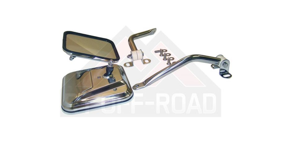 Side Windshield Mirror Kit (Stainless) (RT30001 / JM-01619 / RT Off-Road)