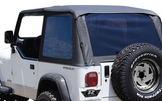 Bowless Soft Top (Black Diamond), YJ (BRT10135T / JM-02214/OS / RT Off-Road)