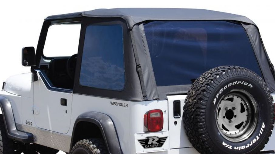 Bowless Soft Top (Black Diamond), YJ (BRT10135T / JM-02214 / RT Off-Road)