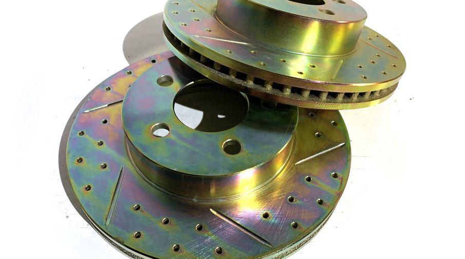 Front Performance Brake Disc / Rotor (Pair), KJ (J1BM47575 / 52128247 / JM-05396 / Terrafirma)
