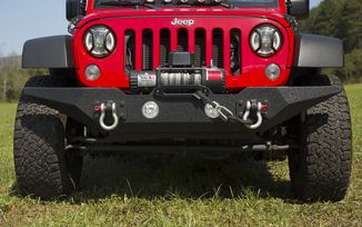 Front Recovery Bumper, Spartan Without Overrider, JK (11548.03 / JM-03863 / Rugged Ridge)