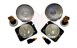 Parking and Side Marker Light Kit (Clear), JK (RT28018 / JM-03121 / RT Off-Road)