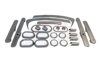 Complete Interior Trim Kit (4-Door; Brushed Silver) (RT27032 / JM-02500 / RT Off-Road)