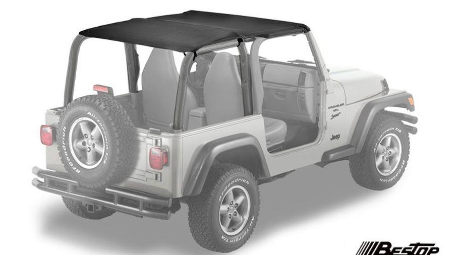 Safari Bikini Soft Top, Black, TJ (52530-15 / JM-01157 / Bestop)