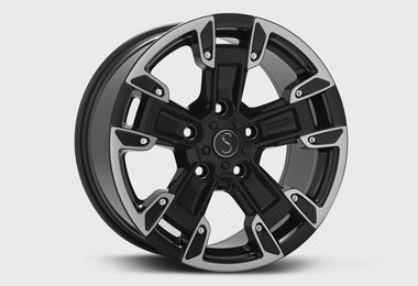 FK2, Black Diamond Cut, 17x8 (ET33), JL (JM-05047 / Sterling Automotive Design)