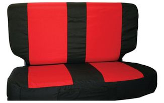 Rear Seat Cover Set (03-06, Black/Red) (SCP20230 / JM-03920LS / RT Off-Road)