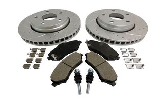 Performance Brake Kit (Front; Drilled & Slotted) JK (RT31027 / JM-01346 / RT Off-Road)