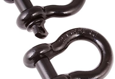 D-Shackles, 3/4-Inch, Black, Pair (11235.04 / JM-05250 / Rugged Ridge)