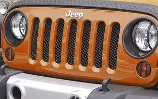 Mesh Grille Insert Screen, Black (11401.31 / JM-02543 / Rugged Ridge)