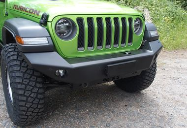 Front Recovery Bumper, Challenger with Winch Mount, Aluminium, JL (JL216 / JM-04698 / Rock's 4x4)