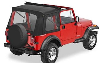 Sunrider Complee Soft Top For 1976-1995 CJ7 & Wrangler. Black Crush (51698-01 / JM-03367 / Bestop)