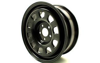 16 X 6.5 (ET25) Black Steel Wheel, Renegade (TF4408 / JM-04452 / Terrafirma)
