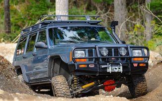Front Recovery Bumper, ARB Bull Bar, XJ (97-01) (3450080 / JM-02081 / ARB)