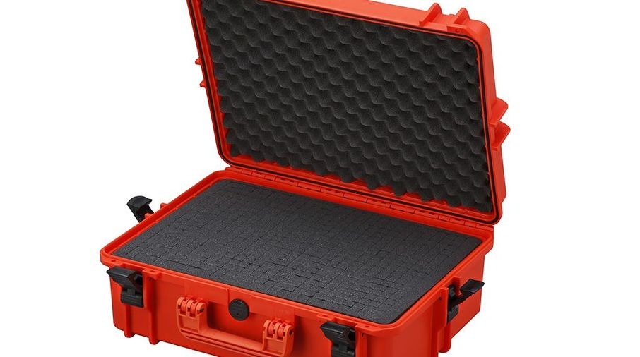 Waterproof Suitcase With Cube Cut Foam / Orange / Large (SBOX020 / JM-04799 / Front Runner)