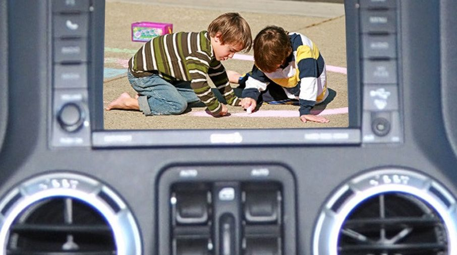 Rear Vision System for Factory Display Radios, JK (9002-8837 / JM-04522 / Brandmotion)