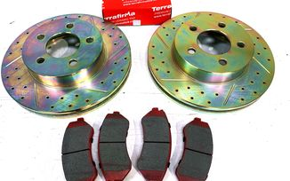 Front Performance Brake Kit, KJ (J1BM47575KIT / JM-05410 / Terrafirma)