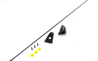 Black Antenna Kit, 76-95 Jeep CJ & Wrangler (17214.02 / JM-03875 / Omix-ADA)