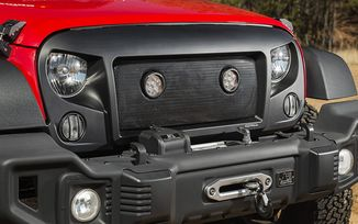 Spartan Grille with LED Light Insert, JK (12034.35 / JM-04539 / Rugged Ridge)