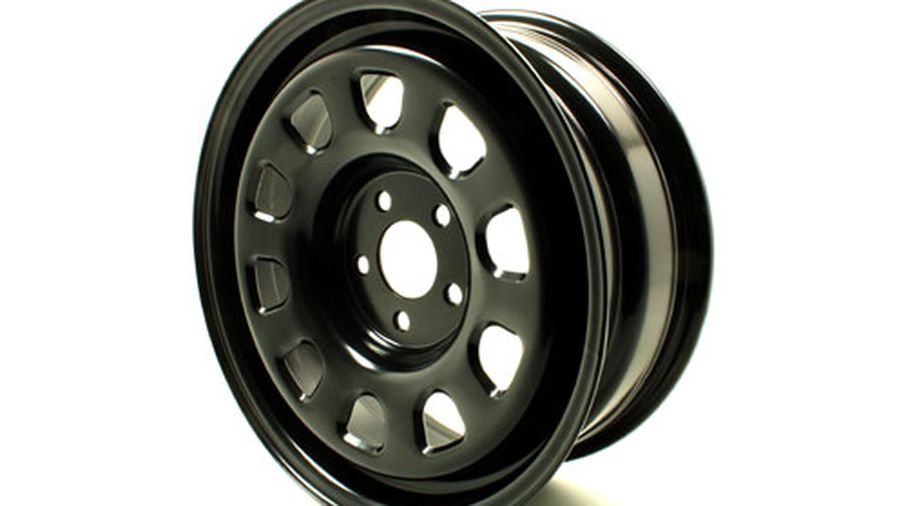 16 X 6.5 Black Steel Wheel, Renegade (TF4408 / JM-04452 / Terrafirma)
