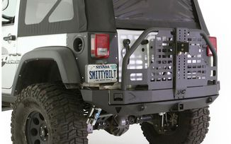 Rear Atlas Bumper with Tyre Carrier, (76896 / JM-02596 / Smittybilt)