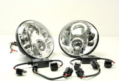 "7"" LED Headlights (TF710 / JM-04357 / Terrafirma)"