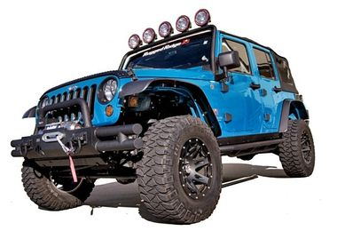 All Terrain Flat Fender Flare Kit, JK (11620.10 / JM-02151 / Rugged Ridge)