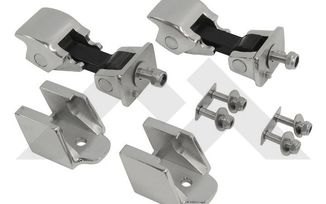 Hood Catch Kit, TJ (Stainless Steel) (RT26044 / JM-01183 / RT Off-Road)