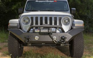 Front Recovery Bumper, Spartan High Clearance with Overrider; JL (11548.41 / JM-03976 / Rugged Ridge)