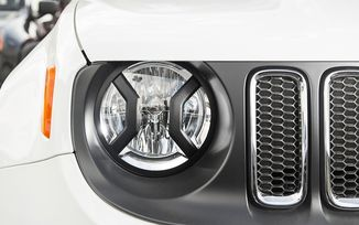 Headlight Euro Guards, Textured Black, BU (11230.20 / JM-04283 / Rugged Ridge)