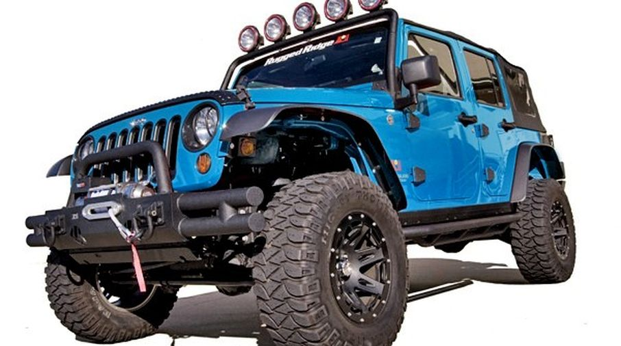 5KFK Crown Automotive Fender Flares Kit Front Rear Jeep Wrangler JK 2007-2017