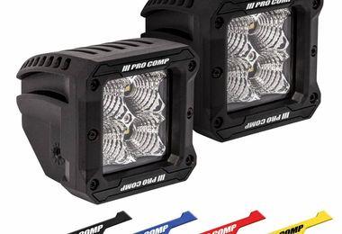 S4 GEN3 LED Flood Lights, 2x2 Square (76413P / JM-05873 / Pro Comp)