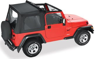 Sunrider Complete Soft Top For 1997-2002 Wrangler, Black Denim (51699-15 / JM-03365 / Bestop)