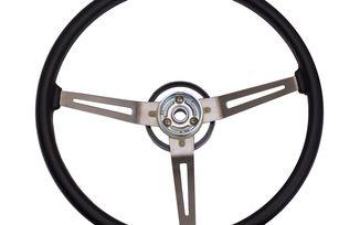 Steering Wheel, Vinyl; 76-95 Jeep CJ/Wrangler (18031.05 / JM-03439 / Rugged Ridge)