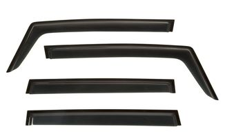 Window Visor Kit, 4-piece, Black, 15-18 Renegade BU (11349.15 / JM-03359 / Rugged Ridge)