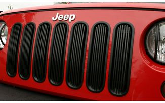 Grille inserts, Black billet-style (11401.30 / JM-02542 / Rugged Ridge)