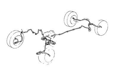 Steel Brake Line Set, 7 Piece, TJ (16737.51 / JM-02465 / Omix-ADA)