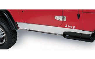 Rocker Panel Cover, Stainless Steel; Jeep Wrangler TJ (11145.02 / JM-03928 / Rugged Ridge)