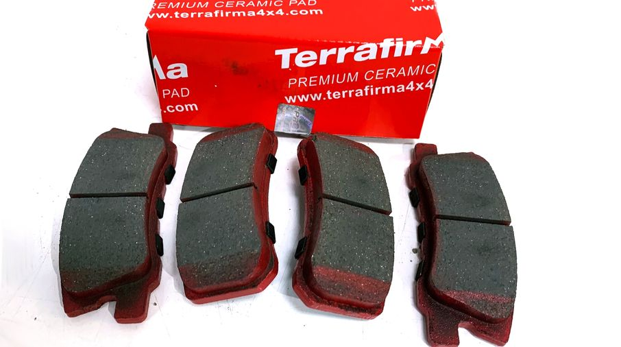 Rear Ceramic Brake Pad Set, MK 302mm (J3BM47542/68028671AA / JM-05409 / Terrafirma)