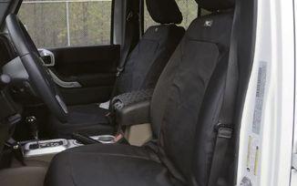 Elite Ballistic Heated Seat Cover Kit, Front; 07-10 Jeep Wrangler JK/JKU (13216.03 / JM-03314 / Rugged Ridge)