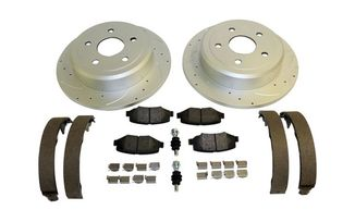 Performance Brake Kit (Rear; Drilled & Slotted) JK (RT31028 / JM-01347 / RT Off-Road)