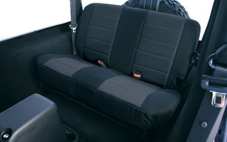 Rear Seat Covers, Black Fabric, TJ 97-02 (13281.01 / JM-02642 / Rugged Ridge)