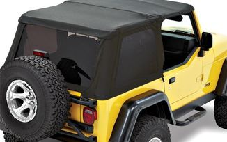 Replace-A-Top For Trektop NX Black Twill - 1997-2006 TJ Wrangler (59720-17 / JM-03364 / Bestop)