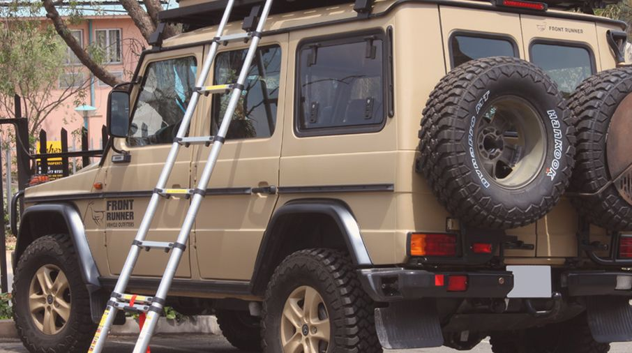 Telescopic Ladder 2 6m For Roof Rack Ladd008 Jeepey