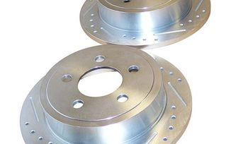 Brake Rotor Set (Rear; Drilled & Slotted) KJ & TJ (52128411DS / JM-01328 / RT Off-Road)