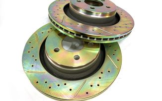 "Front Performance Brake Disc / Rotor (Pair), KK 13.09"" (J1BM47560/4779599AB / JM-05400 / Terrafirma)"
